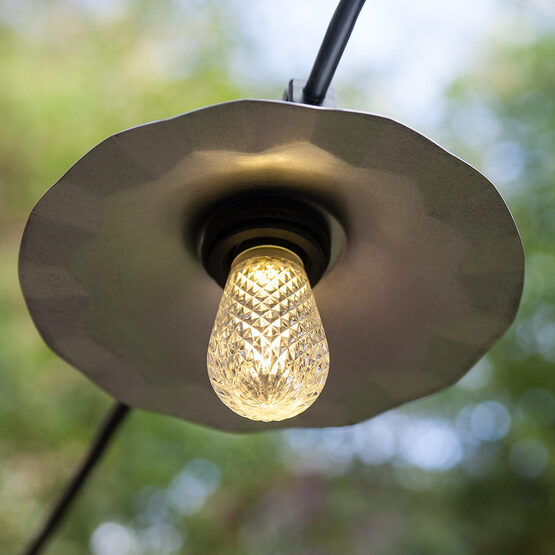 48' Cafe String Lights, 15 Warm White S14 LED Bulbs