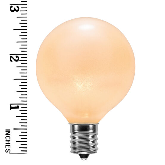 G50 Globe Bulbs, Pearl White, E17 Base