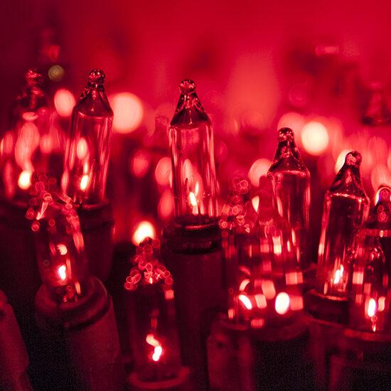 Standard Red Chasing Mini String Lights