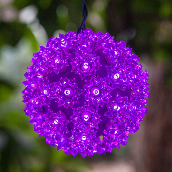 "6"" Light Sphere, 50 Purple LED Lights"