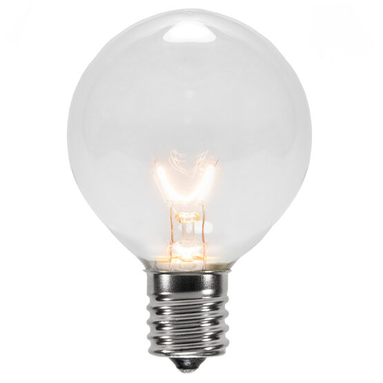 G50 Globe Bulbs, Clear, E17 Base