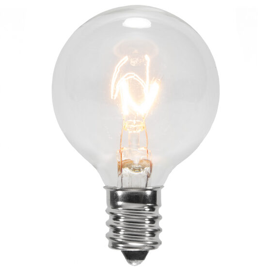G40 Globe Bulbs, Clear, E12 Base