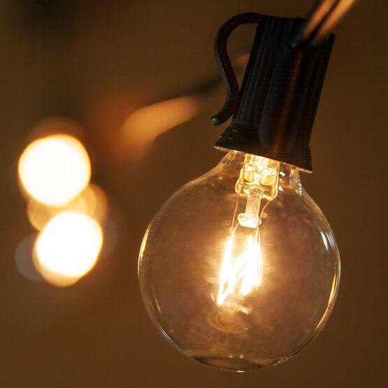 G40 Globe Bulbs, Clear, E12 Base