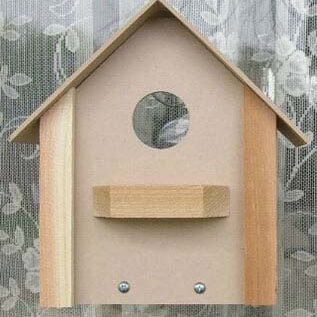 Cedar Window Bird House