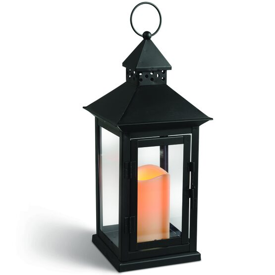 Black Hanging Outdoor Candle Lantern