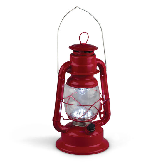 Red LED Hurricane Lantern
