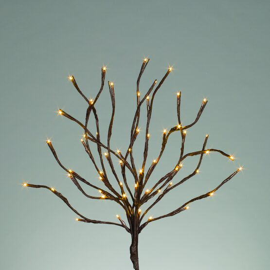 "20"" Battery Operated Brown Branches with Warm White LED Lights"