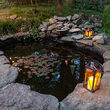 Copper Outdoor Hanging Candle Lantern