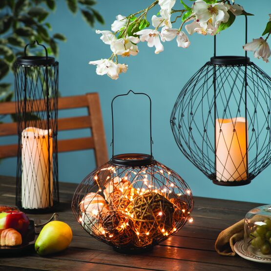 "14"" Expandable Wire Candle Lantern"