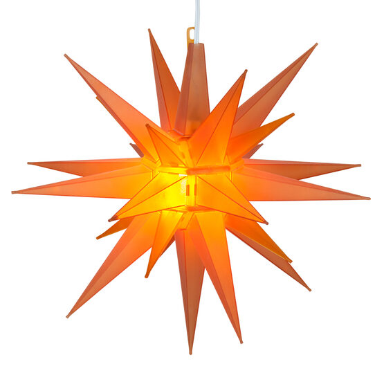 Lighted Moravian Star, Amber LED
