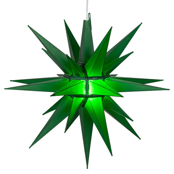 Lighted Moravian Star, Green LED