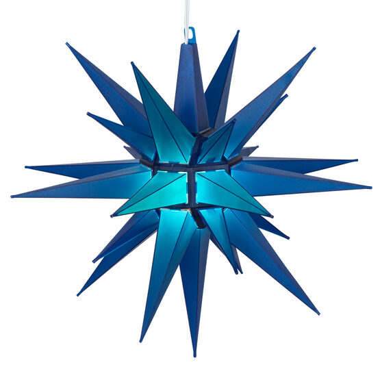 Lighted Moravian Star, Blue LED