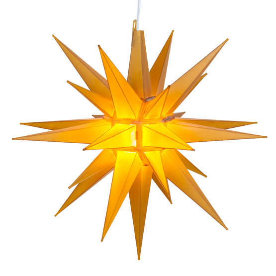 Lighted Moravian Star, Gold LED
