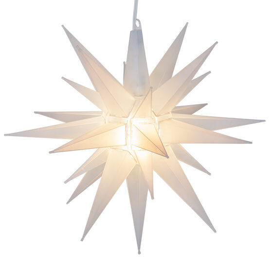 Lighted Moravian Star, Clear Frosted LED