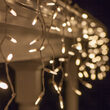 70 M5 LED Icicle Lights, Warm White, White Wire
