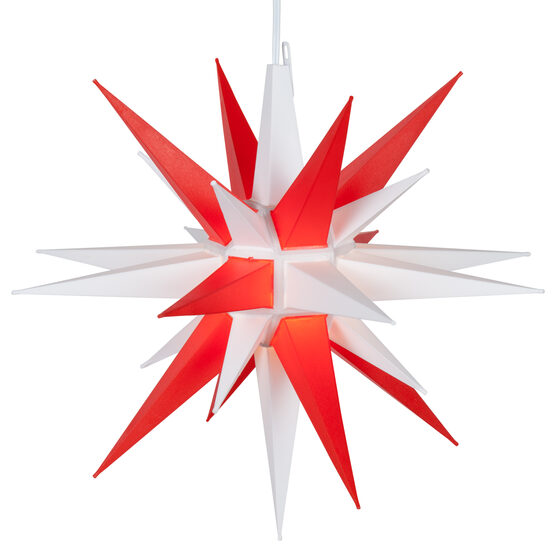 Lighted Moravian Star, Red and White LED