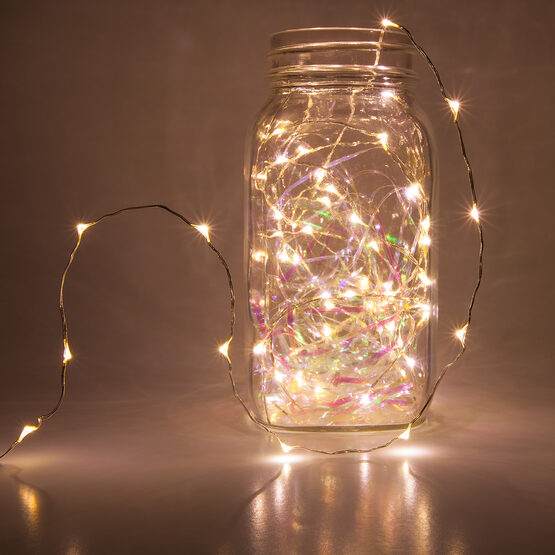 10 Warm White LED Fairy Light String - Yard Envy