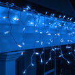 150 Icicle Lights, Blue, White Wire