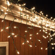 100 Icicle Lights, Clear, Green Wire