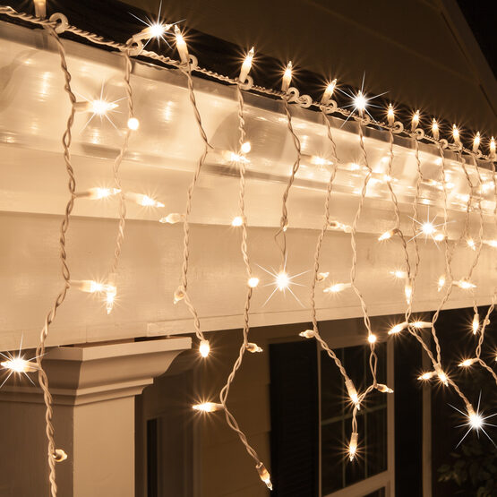150 icicle lights clear twinkle white wire yard envy for White twinkle christmas lights