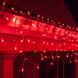 150 Icicle Lights, Red, White Wire