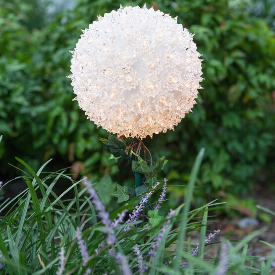 Light Sphere Stake, Clear Twinkle