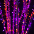 Wide Angle Halloween LED Mini Lights, Purple, Orange, Black Wire
