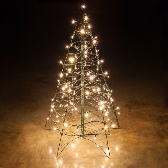 5' Lighted Warm White LED Outdoor Christmas Tree
