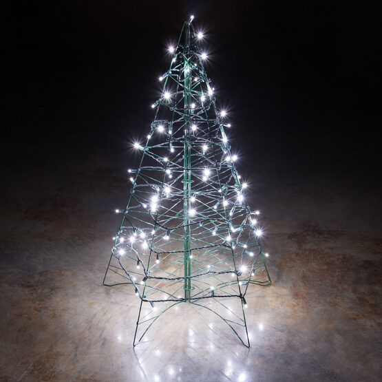 5' Lighted Cool White LED Outdoor Christmas Tree
