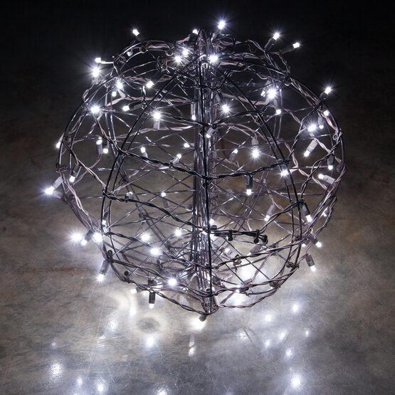 Light Ball, Fold Flat Brown Frame, Cool White LED