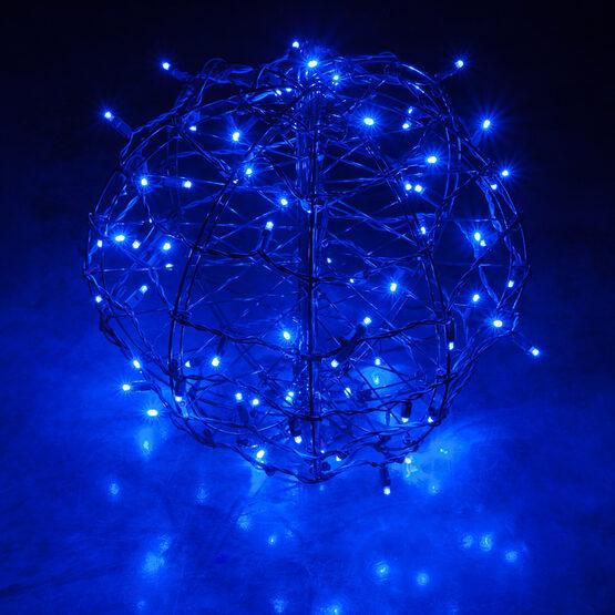 Light Ball, Fold Flat Brown Frame, Blue LED