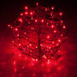 Light Ball, Fold Flat Brown Frame, Red LED