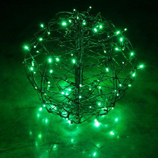 Light Ball, Fold Flat Brown Frame, Green LED