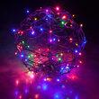 """15"""" Light Ball, Fold Flat Brown Frame, Multicolor LED"""