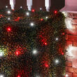 4' x 6' 5mm LED Net Lights, Red, Cool White, Green Wire
