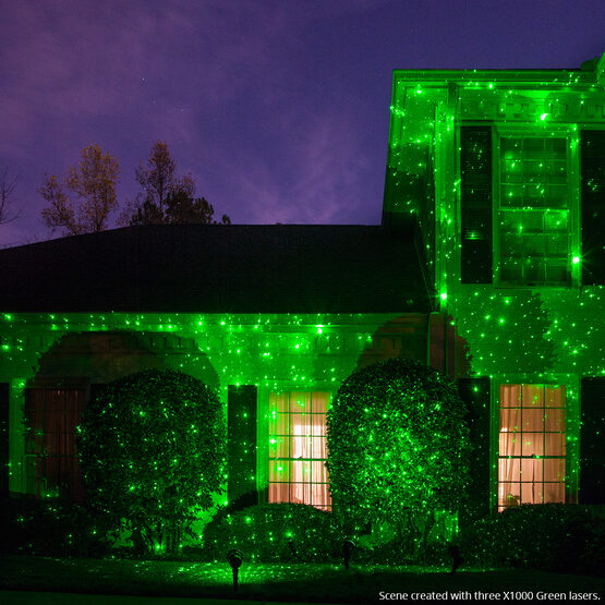 green x1000 laser light projector yard envy. Black Bedroom Furniture Sets. Home Design Ideas