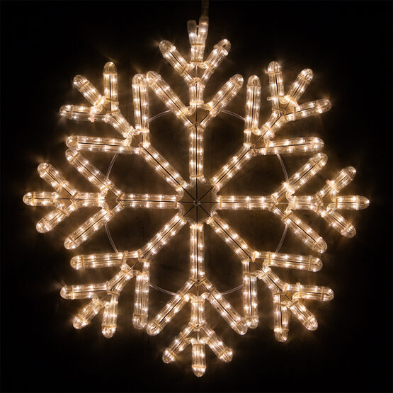 LED 40 Point Snowflake, Warm White Lights