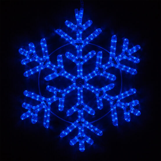 LED 42 Point Snowflake, Blue Lights
