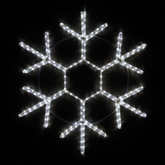LED 18 Point Snowflake, Cool White Lights