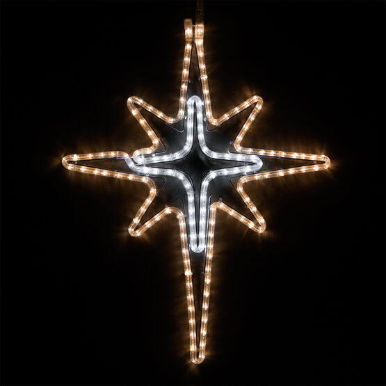 LED Warm White and Cool White Bethlehem Star