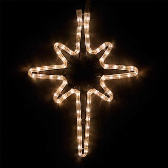 LED Bethlehem Star, Warm White Lights