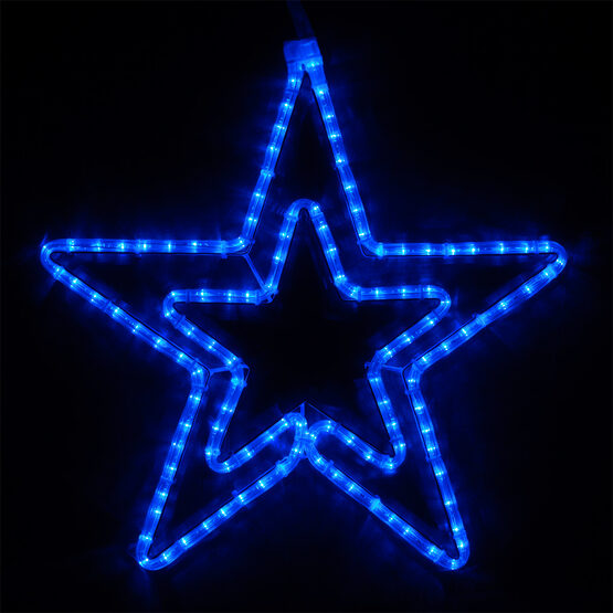 Double 5 Point Star, Blue