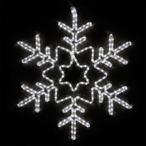 Star Center Snowflake, Cool White Lights