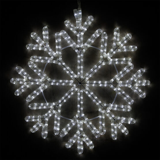 LED 40 Point Snowflake, Cool White Lights