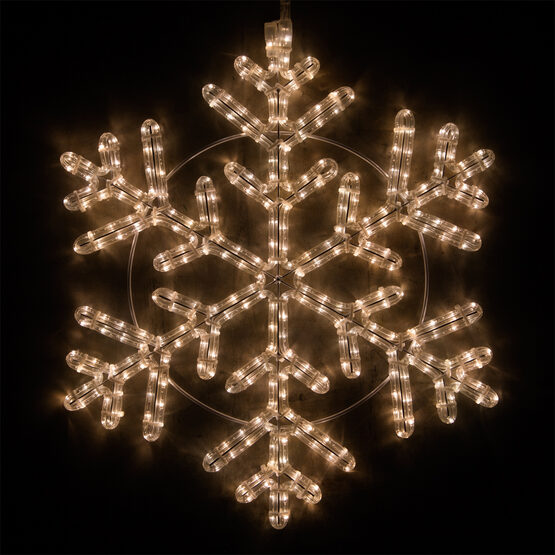 LED 42 Point Snowflake, Warm White Lights