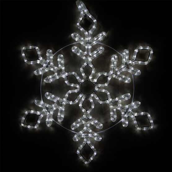 LED Diamond Branch Snowflake, Cool White Lights