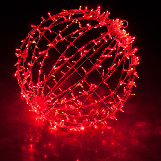 "20"" Commercial Mega Sphere Light Ball, Fold Flat Red LED"