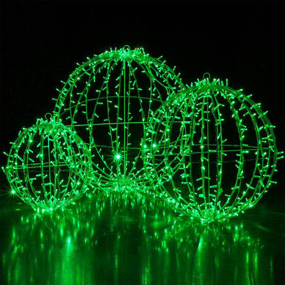 Commercial Mega Sphere Light Ball, Fold Flat, Green LED