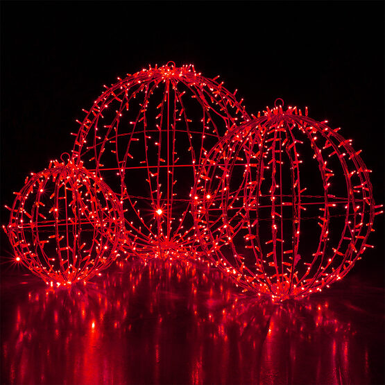 Commercial Mega Sphere Light Ball, Fold Flat, Red LED