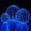 "30"" Commercial Mega Sphere Light Ball, Fold Flat Blue LED"